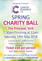 Spring Charity Ball for Easingwold Friends of Cancer Research