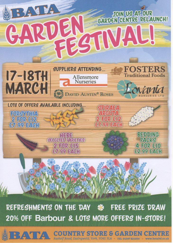 BATA Easingwold garden festival