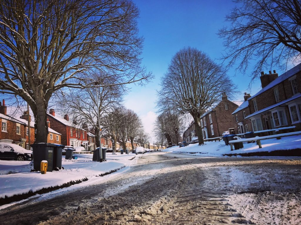 Glorious Easingwold in the snow and sunshine
