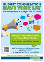Budget Consultation 2019-20 Poster
