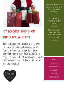 Men's Christmas Shopping Night