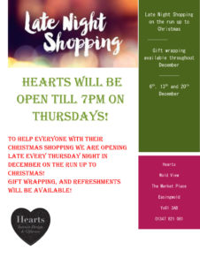 Hearts Late Night Christmas Opening