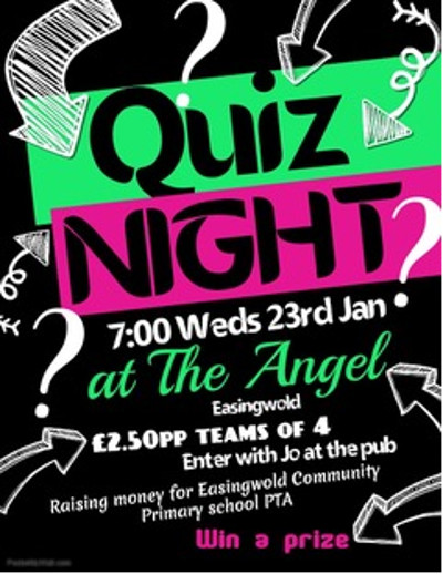 EPIC pub quiz at The Angel promotional poster